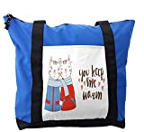 Lunarable You and Me Shoulder Bag, Cute Cat Couple, Durable with Zipper