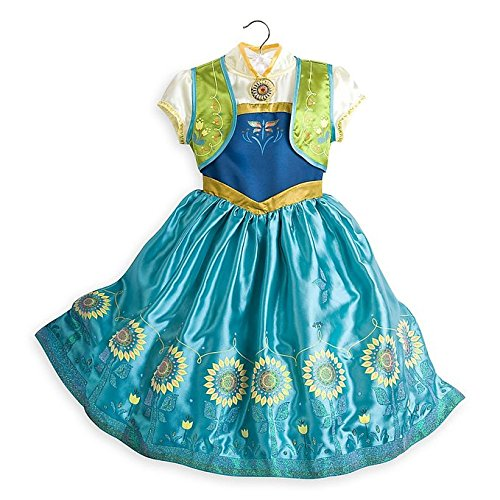 Disney Stores Frozen Fever Deluxe Anna Costume Dress for Kids (9/10)