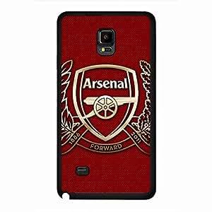 Black Plastic Arsenal Football Team Phone Funda Cover,Arsenal Football Team Phone Funda For Samsung Galaxy Note 4,Phone Funda Of Arsenal Football Team Logo Funda