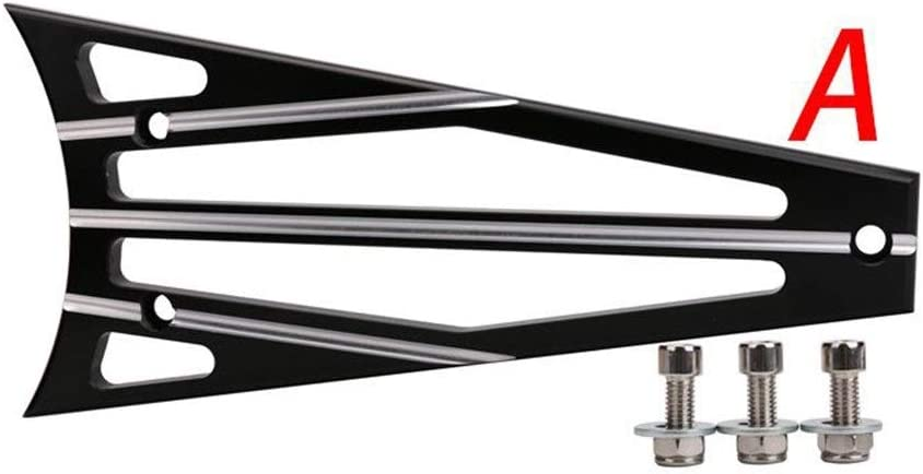 Color : Black JIANGJINLAN Kompatibler Harley Ersatz for Refit Zubeh/ör Street Gliding Road King CNC Wassertankabdeckung Rahmenschutzabdeckung 09-13