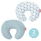 Nursing Pillow Cover 2 Pack for Baby Girls Boys, Soft and Comfortable Breastfeeding Pillow Cover, Snug Fits Nursing Pillows for Breastfeeding