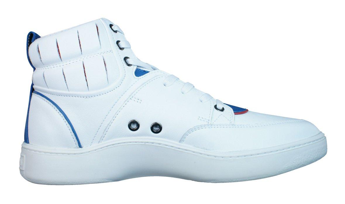 Puma Alexander McQueen Summer Joust Mens Leather Sneakers / Hi Tops-White-7.5