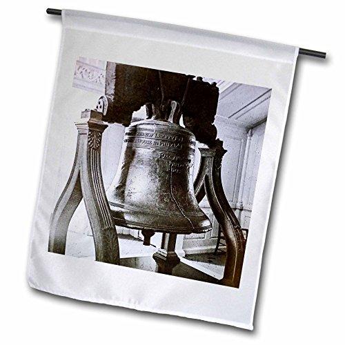 3dRose fl_269894_2 Vintage Liberty Bell Philadelphia Amer Garden Flag, 18