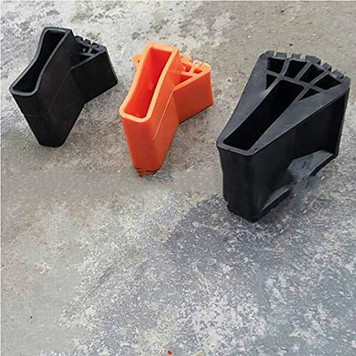 Escalera Cubierta de pie redonda Exquisita Duradera Escalera plegable multifunci/ón Cubierta de pie en forma de abanico Alfombrilla antideslizante Negro