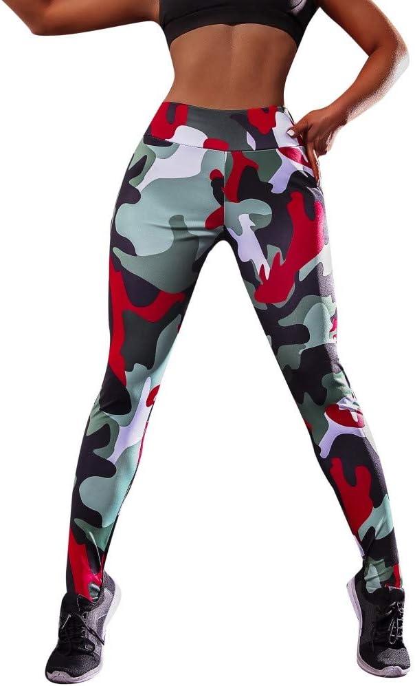 MEIbax Leggings Mujer Yoga Pantalones Moda el/ásticos Impresi/ón de Cintura Alta Gimnasio Athletic Entrenamiento Fitness Gym Skinny Mallas de el/ásticas Pantal/ón Largo Push up Mallas Deportivos Largos