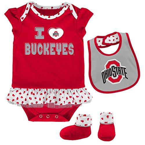Cotton Onesie Ohio (NCAA by Outerstuff NCAA Ohio State Buckeyes Newborn & Infant