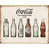 Tin Sign 1839 Tin Sign Coke Bottle Evolution