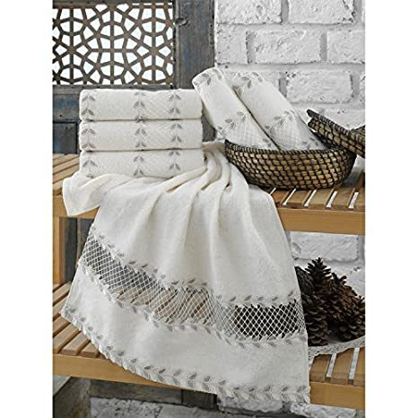 Serra Home Hotel y Spa bambú bordado toalla de mano 50 x 90 cm debe i̇sl