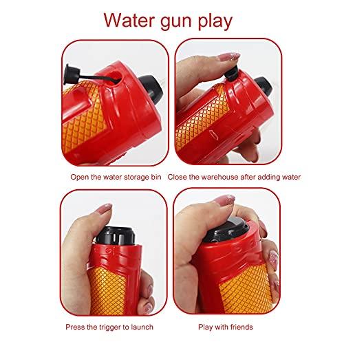 Ymibull Summer Bathroom Beach Mini Wrist Sprinkler Children's Interactive Toy for Kids Outdoor Play Swimming Pool Sprinkler (Red)