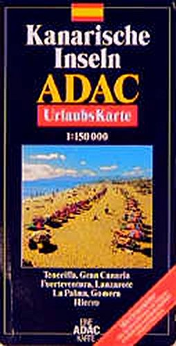 ADAC Karte, Kanarische Inseln (ADAC Karten Spanien / 1:150000)