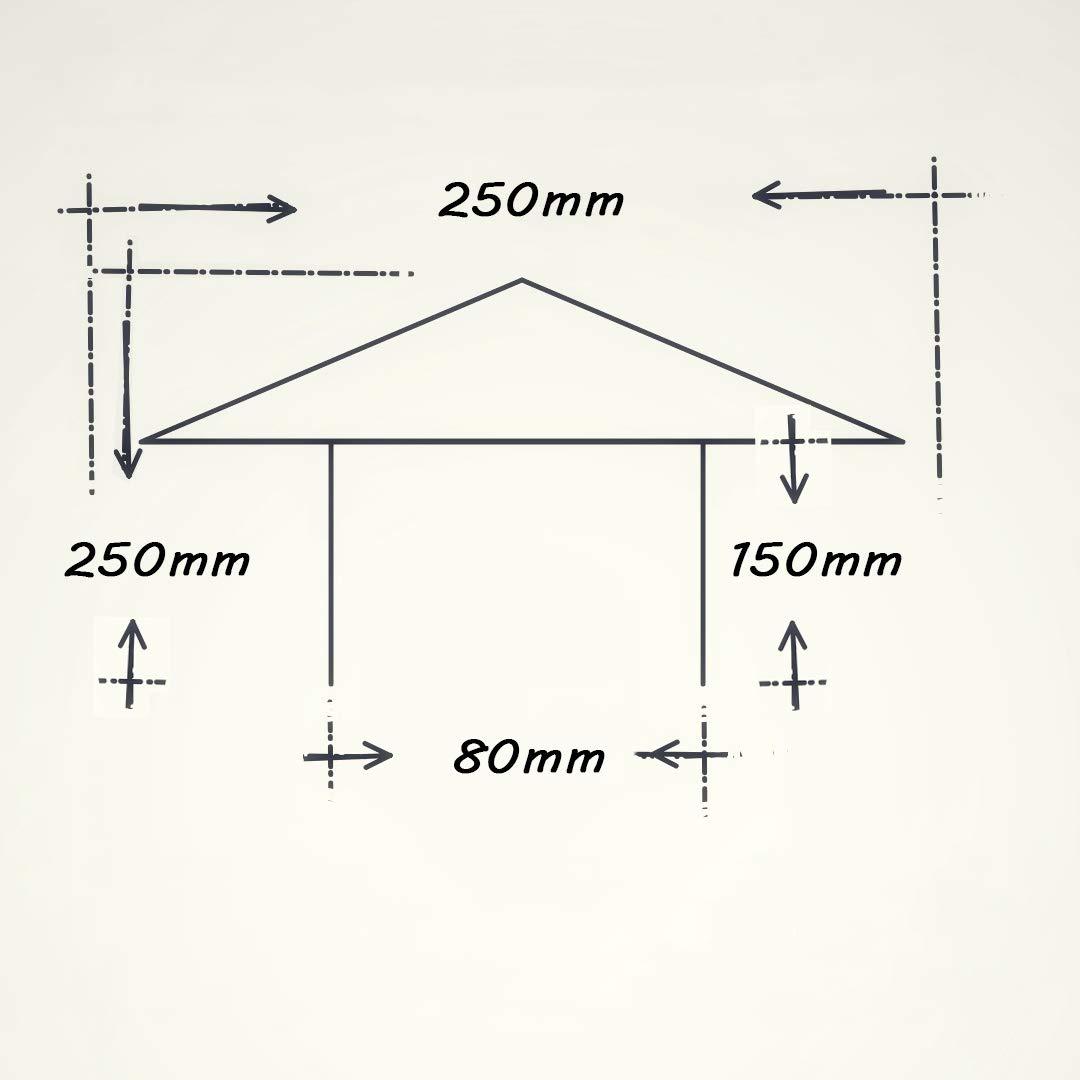 Size : 75mm Sistema Chimenea Capucha de Acero Inoxidable Redondo Impermeable Salida de Aire de la Capucha Cap Techo Cubierta de ventilaci/ón de Aire Acondicionado ventilaci/ón