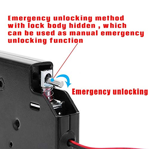 WEIWEITOE-ES 150KG//330lb Electric Magnetic Lock Door Access Control DC 12V Cabinet Drawer Electromagnetic Lock with Emergency Unlock