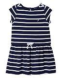 Nautica Little Girls' Short Sleeve Fashion Dress, Drop Navy, 5