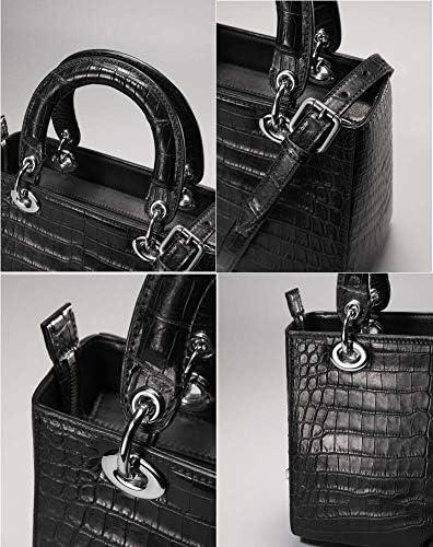 EEKUY Fourre-Tout Alligator Femmes Shopper, Sac à bandoulière Sac Messenger Sacs Crocodile du Nil Ventre en Cuir Lady 9,45 × 4,33 × 7,68 Pouces