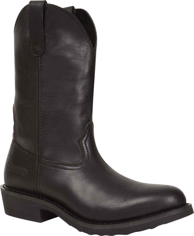 ロッキーMen 's WardenウェリントンDuty Boot Round Toe – rkyd016 ブラック 10.5  B00KTJ1U1U