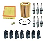 BMW E46 E39 OEM Tune-up Kit NGK Spark Plugs Mann Oil + Air Filters + 7 Quarts Engine Oil