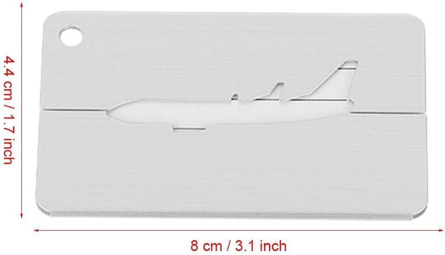 Etiquette didentification pour Cartes de Visite Accessoires Voyage Mix Couleurs Alomejor 5Pcs /Étiquettes de Valise Bagages /Étiquettes avec Cordes en Alliage daluminium Portes