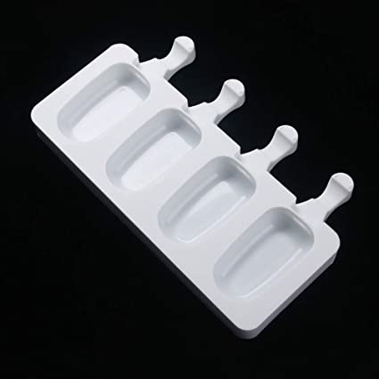 NUOMI Ice Pop Molds Silicone Popsicle Makers, BPA Free Trays, 4,cavity,  Great for Cakesicles!
