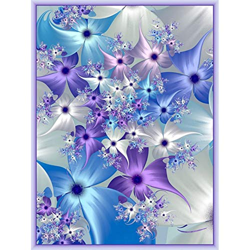 Meanwell DIY Diamond Painting Kit Full Drill Embroidery Cross Stitch Arts Craft Canvas Wall Home Decor Craft for Adults or Kids-Flower (30x40CM)