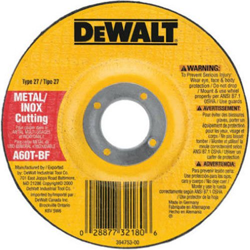 - DEWALT DW8424 Thin Cutting Wheel, 4-1/2-Inch x .045-Inch x 7/8-Inch