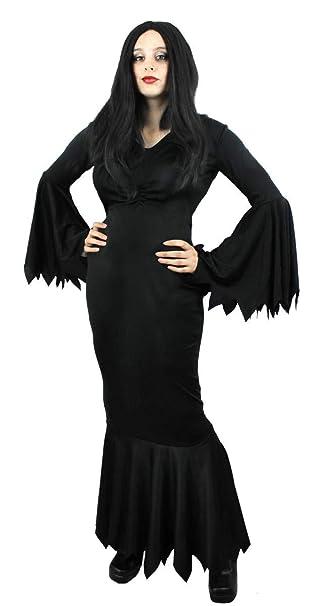 ILOVEFANCYDRESS Vestido LONGO Negro Estilo GOTICO para Adultos ...
