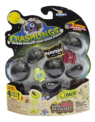 Crashlings Series 1 4 Pack- Monster - Random Selection (Shuffle Protective Case Silicone)