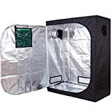TopoLite 48''x24''x60'' 600D Grow Tent Room w/ Observation Window Reflective Mylar Indoor Garden Growing Room Hydroponic System
