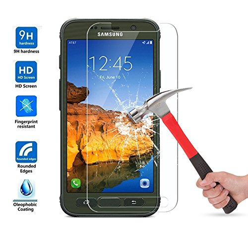 Galaxy S7 Active Screen Protector, SOOYO(TM) Premium Tempered Glass Screen Protector (Shatter-Proof/Bubble Free) for Samsung Galaxy S7 Active ,not for Galaxy S7, S7 Edge [Lifetime Warranty]-[3Pack]