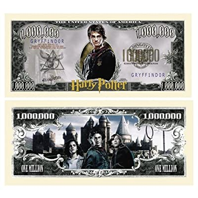 American Art Classics Harry Potter Million Dollar Bill Collectible in Currency Holder Novelty Money: Toys & Games