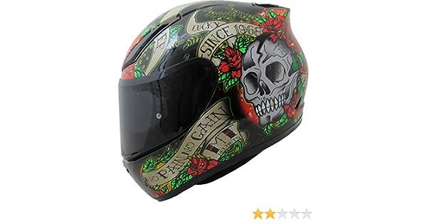 MT Revenge Skull & Roses - Casco de Moto