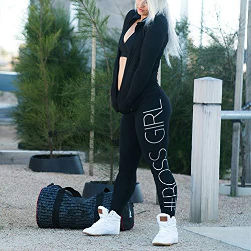 Amazon.com: Pantalones de yoga para mujer Boss Girl Print ...