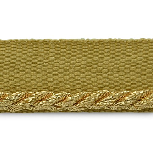 Expo International 20-Yard Saturn Twisted Lip Cord Trim Embellishment, 1/8-Inch, Metallic Gold