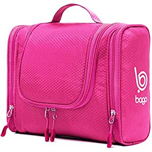 Bago Hanging Toiletry Bag For Women & Men - Travel Bags for Toiletries | Leak Proof | Hanging Hook | Inner Organization to Keep Items From Moving - Pack Like a PRO