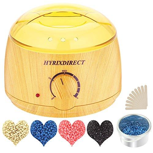 - Wax Warmer Hair Removal Waxing Kit Wax Melts Warmers Heater Pot + 4 Flavors Hard Wax Beans + 10 Wax Applicator Sticks Home Depilatory Beauty Machine for Arm Leg Face Bikini (Yellow)
