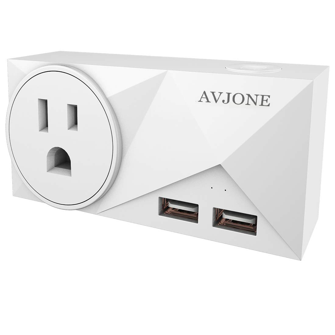 AVJONE Premium Smart Power Plug - WiFi Wireless Power Outlet Socket - Programmable Timing Function - Compatible with IFTTT, Alexa, Echo & Google Assistant Voice Control - 1 Socket + 2 USB Ports