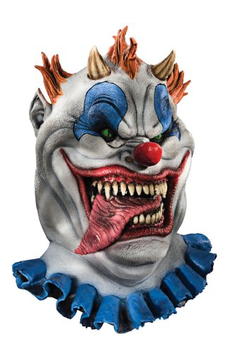 Foam Latex Mask, Deluxe Fatzo The Clown -