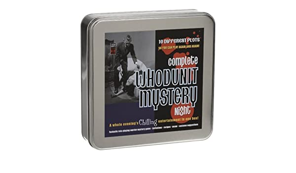 Complete Whodunit Mystery Night Game In A Tin