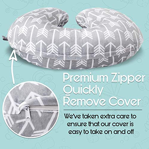 51K7ovUzBeL - Minky Nursing Pillow Cover - Arrow Pattern Slipcover