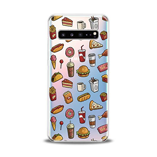 Lex Altern TPU Case for Samsung Galaxy s10 5G Plus 10e Note 9 s9 s8 s7 Tasty Colored Clear Food Pattern Cola Cover Soft Silicone Donut 2018 Print Protective Transparent Girl Funny Present Kid Boy Teen (Samsung S7 Edge Best Themes)