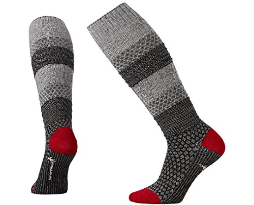 SmartWool Women's Popcorn Cable Knee High Socks (Medium Gray) Medium (Womens Cable Socks Smartwool)