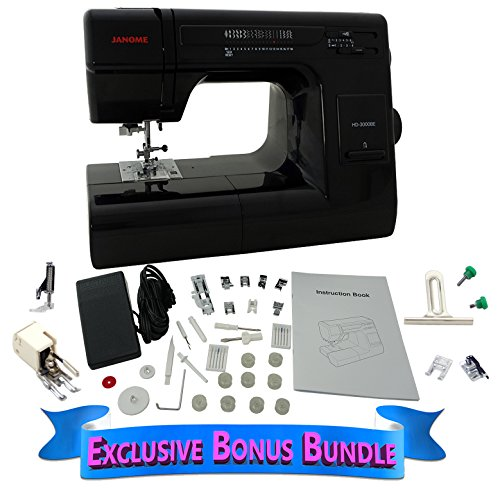 Janome HD 3000 BE Black Edition with Exclusive Bonus Bundle