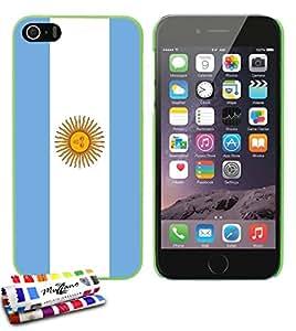 Carcasa Rigida Ultra-Slim APPLE IPHONE 5 de exclusivo motivo [Bandera Argentina] [Verde] de MUZZANO  + ESTILETE y PAÑO MUZZANO REGALADOS - La Protección Antigolpes ULTIMA, ELEGANTE Y DURADERA para su APPLE IPHONE 5