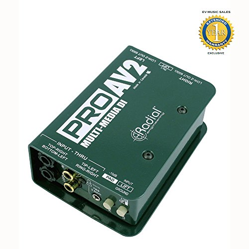 Radial Engineering R800 1115 ProAV2 Passive 2-channel Multimedia DI with 1 Year Free Extended Warranty by Radial Engineering