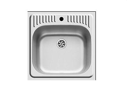 Pyramis ET34 lavabo lavello da incasso in acciaio Piccolo lavello ...