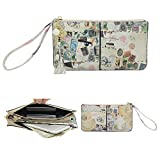 Befen Soft Synthetic Leather Wristlet Phone Wristlet Wallet Clutch Tassels Wristlet with Exquisite Tassels /Wrist Strap / Card slots/ Cash pocket- Fit iPhone 6 Plus/Samsung Note 5-Newspaper