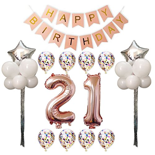 21st Birthday Party Pack,21st Birthday Decorations Party