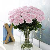 25 Pcs Rose Decorations for Living Room Rose Artificial Decorations Peony Flower Home Decoration Wedding Bridal Bouquet Flower Rose Artificial Vine Flower (Light Pink)