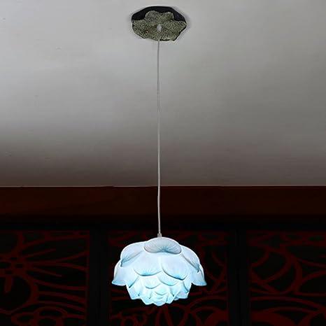 Amazon.com: Lámpara de techo vintage de loto, moderna ...