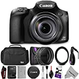Canon PowerShot SX60 HS Digital Camera w/Essential Photo and Travel Bundle – Includes: Altura Photo Shoulder Bag, UV-CPL-ND4, 67mm Lens Adapter Ring, Camera Cleaning Set For Sale