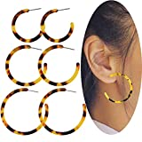 Best Jewelry For 3s - FUNRUN JEWELRY 3 pairs Mottled Acrylic hoop Dangle Review
